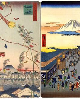 Hiroshige: l'arte e il tessuto si incontrano